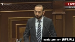 Armenian Parliament Speaker Ararat Mirzoyan (archive photo)