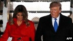 Мелания и Дональд Трамп, архивное фото