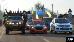 Акція Автомайдану 29 грудня 2013 року. По дорозі на «Межигір'я», резиденції президента Віктора Януковича