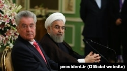 حسن روحانی رئیس جمهور ایران و همتای اتریشیاش هاینتس فیشر