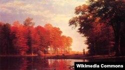 Альбэрт Бірштадт, «Асеньні лес» (1886)