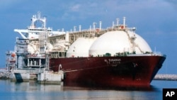 Катарский танкер для перевозки сжиженногоприродного газа