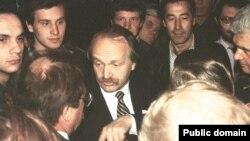 В'ячеслав Чорновіл на шахті ім. Поченкова, Макіївка, 1990-і роки