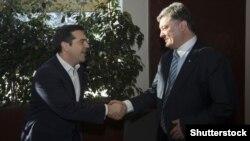Президент України Петро Порошенко і прем'єр-міністр Греції Алексіс Ціпрас, архівне фото