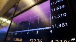 The Dow Jones industrial average fell more than 500 points on August 4, its ninth-steepest decline.