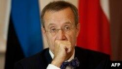 Естонскиот претседател Томас Хандрик Илвес.