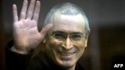 Бывший глава ЮКОСа Михаил Ходорковскийв зале суда. Москва, 2 ноября 2010 года.