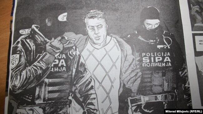 Scena hapšenja Čauševića prikazana i u stripu