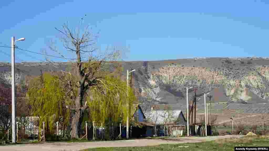 Полукругом у села, огибая склоны Узун-Сырта, раскинулись виноградники завода марочных вин «Коктебель»