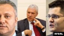 Mladjan Dinkić, Boris Tadić, Vuk Jeremić