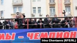 Празднование победы сборной России на чемпионате мира. Москва, 29 мая 2012 г