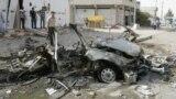 بقايا سيارة مفخخة إنفجرت في كركوك 16 آب 2012