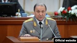 Ички иштер министри Мелис Турганбаев