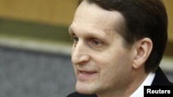 Sergei Naryshkin is a longtime supporter of Russian President Vladimir Putin.