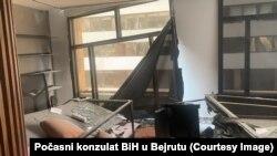 Počasni konzulat BiH u Bejrutu nakon eksplozije
