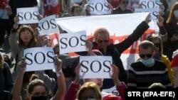 Акция протеста белорусских женщин. Минск, 19 сентября 2020 года