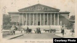 Ilustrată de epocă, Parlamentul Franței (Foto: Biblioteca Centrală Universitară, Iași)
