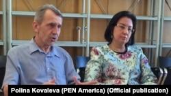 Встреча Евразийских ПЕН-центров. Выступает Николай Рябчук. Фото Polina Kovaleva (PEN America)