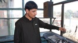 Qadir, inside the restaurant he owns in Kabul.