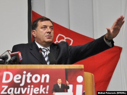 Milorad Dodik na predizbornom skupu u Sarajevu, 16.septembra 2010