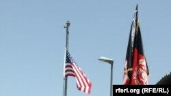 بیرق افغانستان و امریکا