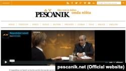 Naslovnica portala Peščanik, 27. februar 2016.