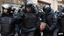 Задержания в Москве во время одной из протестных акций