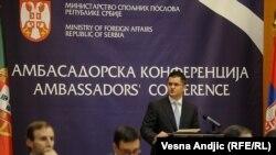 Vuk Jeremić na Ambasadorskoj konferenciji u Beogradu, 16. januar 2012.