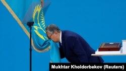 Касым-Жомарт Токаева на церемонии инаугурации после внеочередных президентских выборов. Нур-Султан, 12 июня 2019 года.