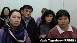Ескендір Ерімбетовтың жақындары. Алматы, 9 қаңтар 2018 жыл.