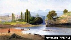 Салгир елгасы. Карл Боссоли рәсеме. 1856