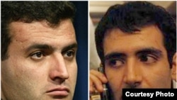 Abdollah Momeni (left) and Majid Tavakoli are both reportedly on hunger strike in Tehran's Evin prison.
