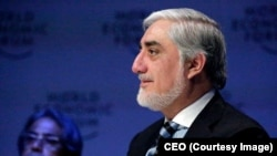 Afghan Chief Executive Abdullah Abdullah attends the World Economic Forum in Davos, Switzerland, on January 23.