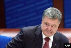 Președintele Petro Poroșenko astăzi la Consiliul Europei