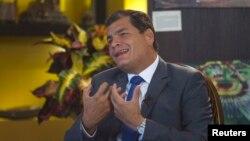 Еквадорскиот претседател Рафаел Кореа.