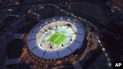 Олимпийский стадион в Лондоне за год до Олимпиады, 25 июля 2011