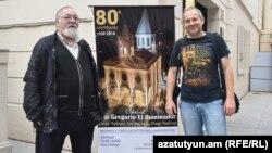 Արգենտինա - Հայ Առաքելական եկեղեցու Արգենտինայի և Չիլիի թեմի առաջնորդ Գիսակ արքեպիսկոպոս Մուրադյանը և բլոգեր Ալեքսանդր Լապշինը, Բուենոս Այրես, 29-ը մայիսի, 2018թ․
