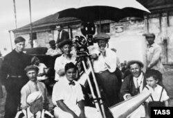 """Во время съемок фильма """"Броненосец Потемкин"""", 1925 год"""