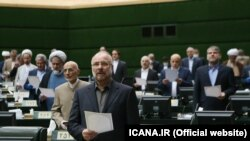 Iran -- Former IRGC commander and the new Parliament speaker Mohammad Bagher Ghalibaf in the opening ceremony of new parliamentary term on May 28, 2020.