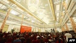 Қытай коммунистік партиясы құрылтайының ашылуы қарсаңы. Пекин, 7 қараша 2012 жыл.