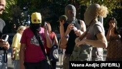 Акція на підтримку Pussy Riot у столиці Сербії Белграді, 17 серпня 2012 року