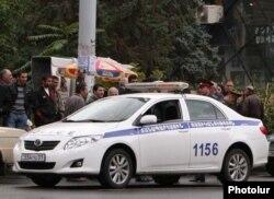Ermənistanda yol polisi
