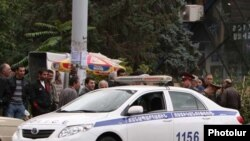 Armenia -- A road police car.