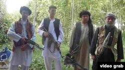 Members of an ethnic Turkmen militia in northern Afghanistan's Jowzjan Province who are fighting the Taliban.