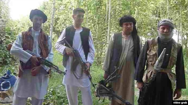 Members of an ethnic Turkmen militia in northern Afghanistan who are fighting the Taliban -- Central Asian states have mostly abandoned efforts to groom ethnic kin as proxies against the Taliban.