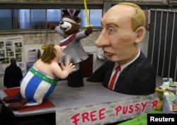 Кёльнский карнавал. В 2013 году одним из его персонажей был Владимир Путин