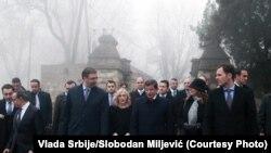 Vučić i Davutoglu na Kalemegdanu