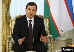 Өзбекстан президенті Шавкат Мирзияев. Астана, 23 наурыз 2017 жыл.