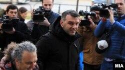 Пратеникот Јохан Тарчуловски пристигнува на распит во Кривичниот суд