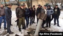 После обстрела Краматорска. 10 февраля 2015 года.